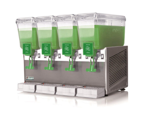 Ampto C1456 Cold Beverage Dispenser, 4 Tanks, 3 Gallons Each