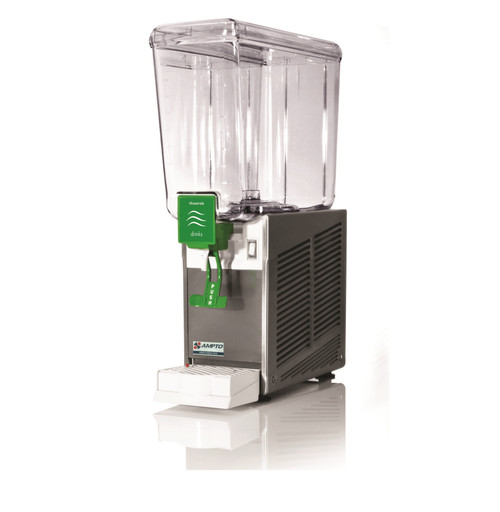 Ampto D1156 Cold Beverage Dispenser, 5 Gallons, 1 Bowl