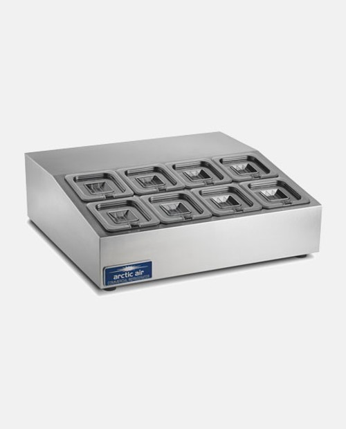 Arctic Air ACP8SQ 8 Pan Compact Refrigerated Counter-top Food Prep Unit