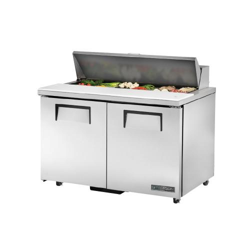 "True TSSU-48-12-ADA-HC 48"" Solid Door Sandwich Salad Prep Table - ADA Compliant"