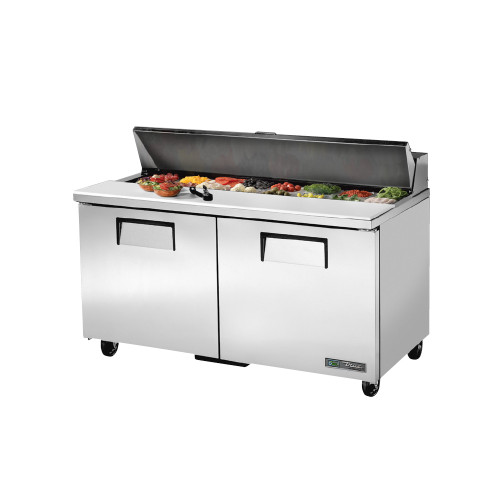 "True TSSU-60-16-ADA-HC 60"" Solid Door Sandwich Salad Prep Table - ADA Compliant"