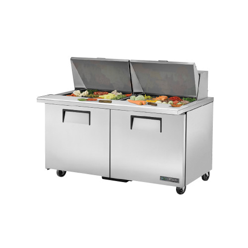 "True TSSU-60-24M-B-ST-ADA-HC 60"" Mega Top Sandwich Salad Prep Table - ADA Compliant"