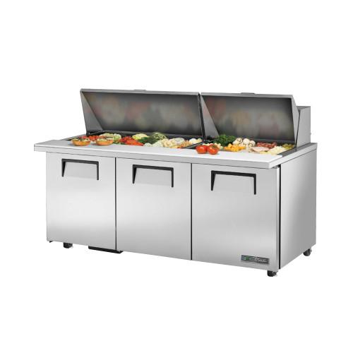 "True TSSU-72-30M-B-ST-ADA-HC 72"" Mega Top Sandwich Salad Prep Table - ADA Compliant"