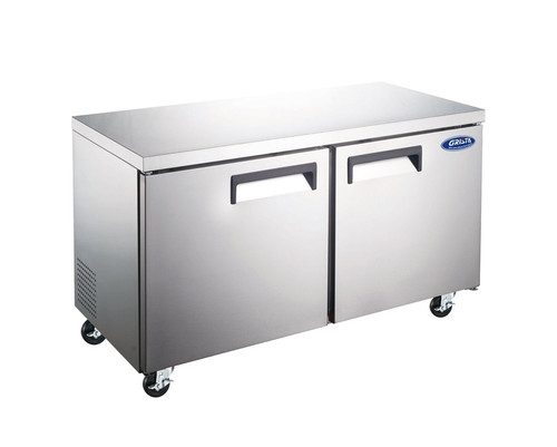"Adcraft GRUCFZ-48 48"" Undercounter Freezer - 2 Door, 12 Cu. Ft."