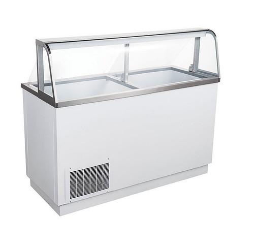 "Adcraft USDP-67 67"" U-Star Ice Cream Dipping Cabinet - 8 Gal. Cans"