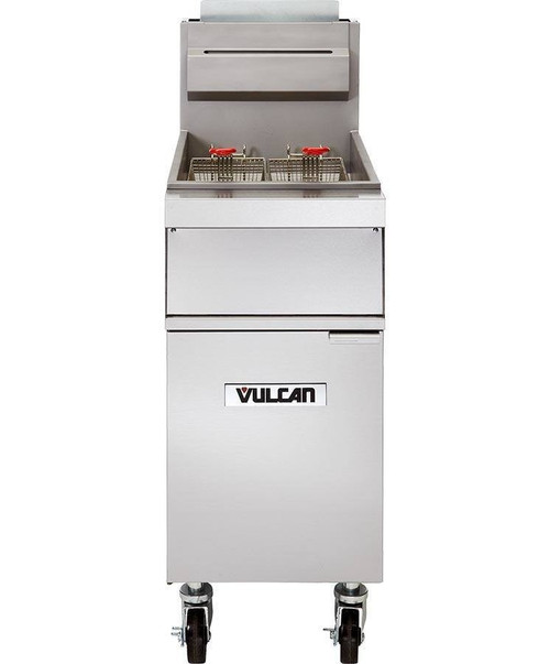 Vulcan 1GR35M-2 90,000 Btu Propane Gas Free Standing Fryer, 40 Lb (1GR35M-2)
