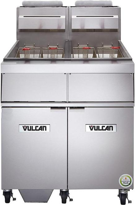 Vulcan 2GR45MF-1 240,000 Btu Natural Gas Free Standing Fryer with Filtration, 90 Lb, GR Series (2GR45MF-1)