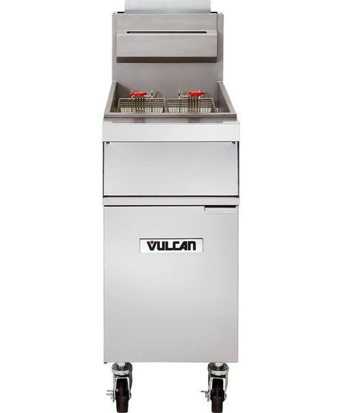 Vulcan 1GR45A-1 120,000 Btu Natural Gas Free Standing Fryer, 50 Lb, GR Series (1GR45A-1)