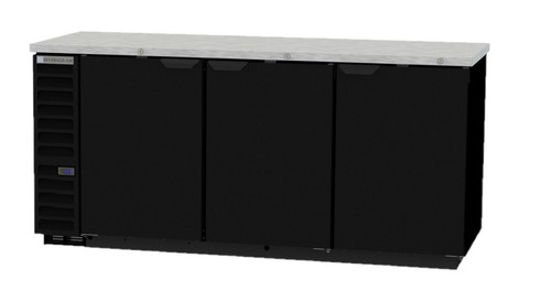 "Beverage Air BB78HC-1-B 79"" Back Bar Refrigerator - Black"