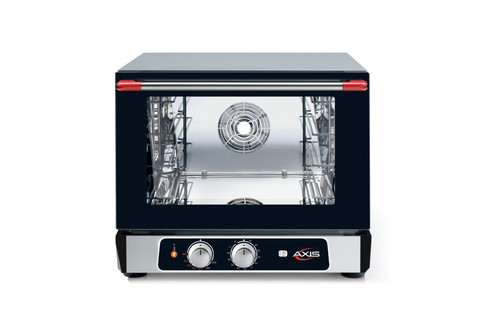 "Axis AX-513RH 22"" Half Size Convection Oven with Humidity - 3 Shelves, Manual Controls"