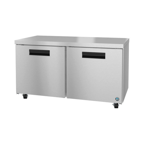 Hoshizaki UR60A Refrigerator, Two Section Undercounter, Stainless Doors