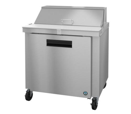 Hoshizaki SR36A-10 Refrigerator, Single Section Sandwich Prep Table, Stainless Door