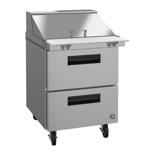 Hoshizaki SR27A-12MD2 Refrigerator, Single Section Mega Top Prep Table, Stainless Drawers