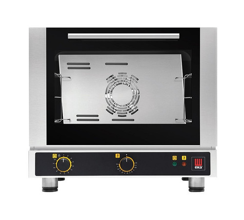 EKA EKFA 312 S Electric Half Size Countertop Convection Oven - Manual Controls - 3 Trays - 120V