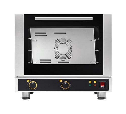 EKA EKFA 312 S2 Electric Half Size Countertop Convection Oven - Manual Controls - 3 Trays - 208-240V Single Phase