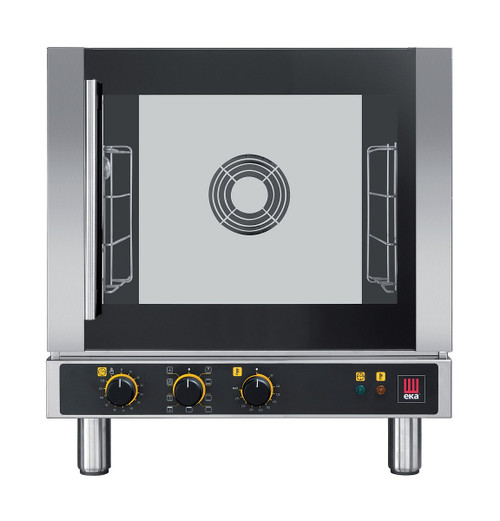 EKA EKFA 412 AL Electric Half Size Countertop Convection Oven - Manual Controls and Left Door - 4 Trays - 208-240V Single Phase