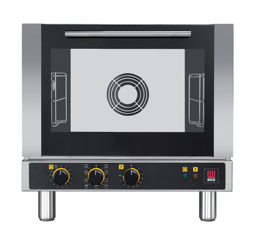 EKA EKFA 312 M Electric Half Size Countertop Convection Oven with Broiler - Manual Controls - 3 Trays - 208/240V 1 Phase
