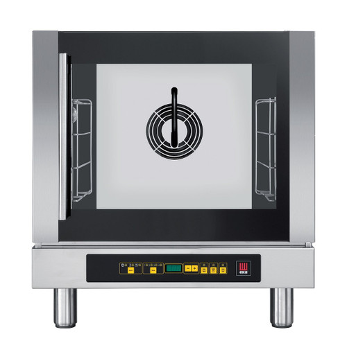 EKA EKFA 412 D AL UD Electric Half Size Countertop Convection Oven with Steam - Digital Controls and Left Door - 4 Trays - 208-240V Single Phase