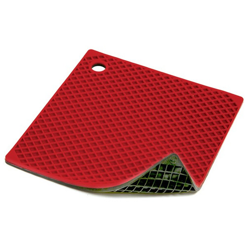 Norpro 403R Silicone Pot Holder/Trivet, Red & Black