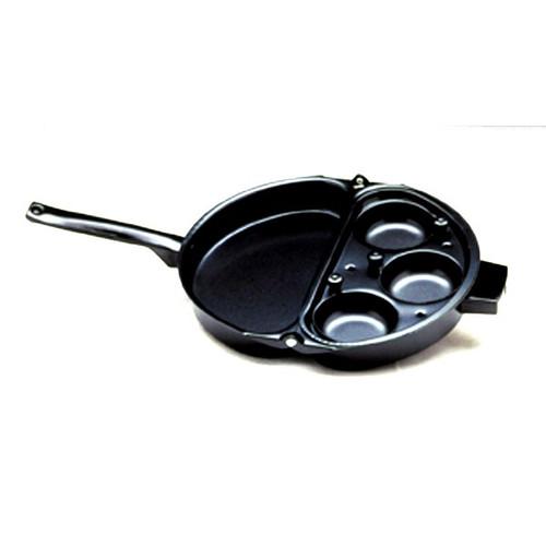 Norpro 665 Omelet Pan W/Egg Poacher, Non-Stick w/ Stay Cool Handle