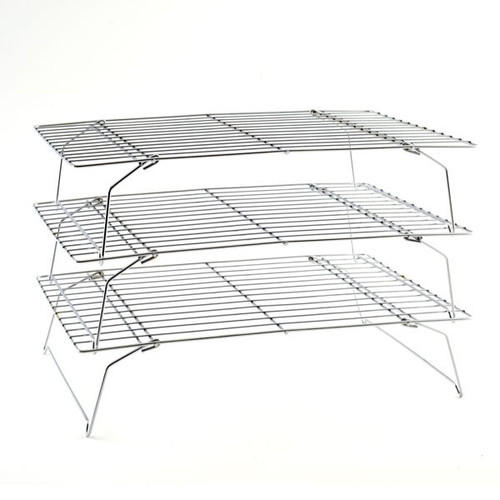 "Norpro 3588 Cooling Rack, 3 Tier Stacking, 10"" x 14"" x 3.5"",Chrome"