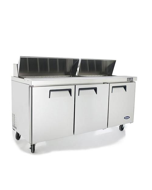 "Atosa MSF8304GR 72"" Sandwich Prep Table, 18 Pans"