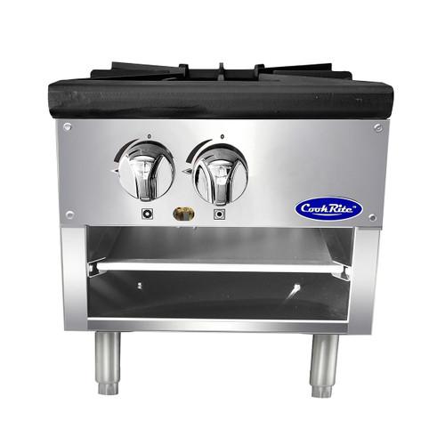 "Atosa ATSP-18-1L 18"" Stock Pot Stove with 2 Burners, Lower Version"
