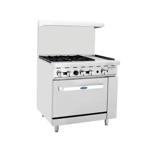 "Atosa ATO-4B12G 36"" Gas Range with 12"" Griddle"