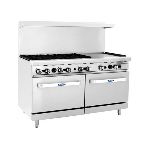 """Atosa ATO-6B24G 60"""" Gas Range with 24"""" Griddle"""