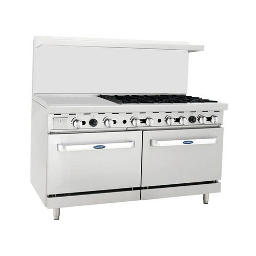 """Atosa ATO-24G6B 60"""" Gas Range with 24"""" Griddle"""