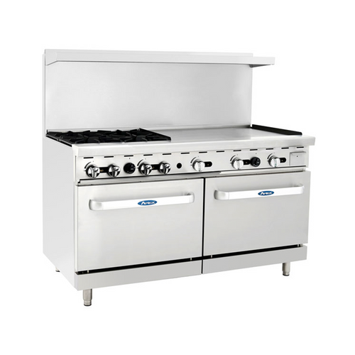"Atosa ATO-4B36G 60"" Gas Range with 36"" Griddle"