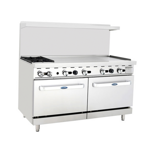 """Atosa ATO-2B48G 60"""" Gas Range with 48"""" Griddle"""
