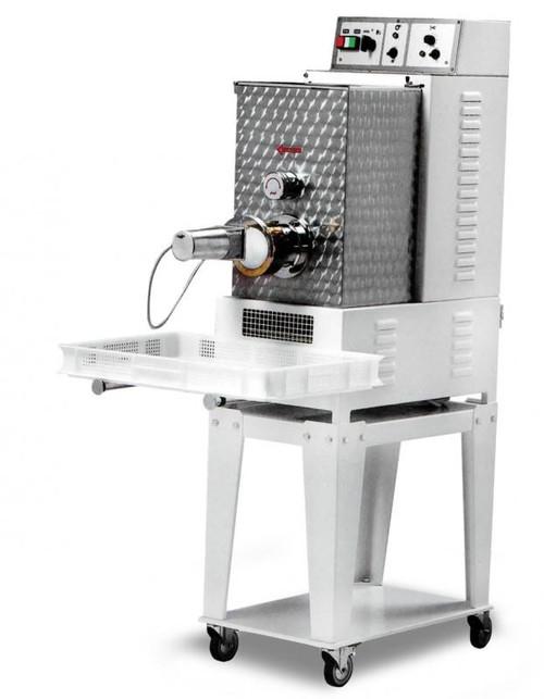Omcan PM-IT-0015 Floor Model Heavy-Duty Pasta Machine with 13 lbs. Tank Capacity - 1 HP