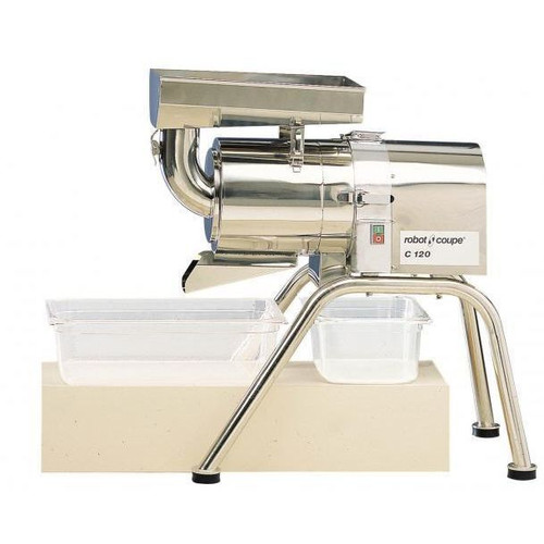 Robot Coupe C120A Stainless Steel Continuous Feed Floor Sieve / Juicer - 220V, 3 Phase