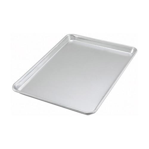 "Winco ALXP-1318 1/2 Size 20 Gauge 13"" x 18"" Aluminum Sheet Pan"