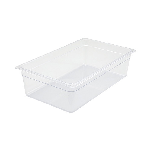"Winco SP7106 Full Size Clear Polycarbonate Food Pan - 5 1/2"" Deep"