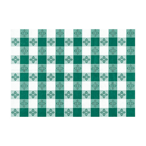 "Winco TBCS-52G Checkerboard Table Cloth, 52"" x 52"", Green"