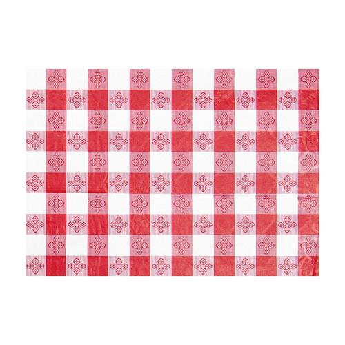 """Winco TBCS-52R Checkerboard Table Cloth, 52"""" x 52"""", Red"""