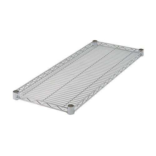 """Winco VC-1872 18"""" x 72"""" Chrome Wire Shelf"""