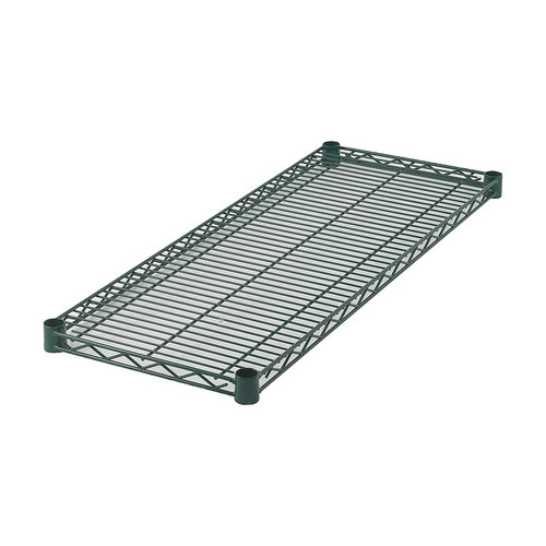 "Winco VEX-1472 14"" x 72"" Green Epoxy Wire Shelf"