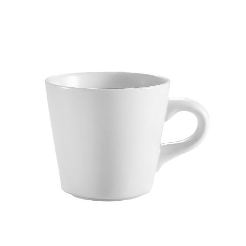 CAC RCN-1 7.5 oz. Super White Porcelain Tall Cup - 36/Case