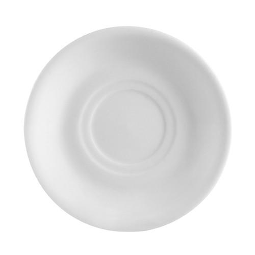"CAC RCN-2 6"" Super White Porcelain Saucer - 36/Case"