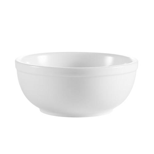 CAC RCN-24 10 oz. Super White Porcelain Nappie Bowl - 36/Case