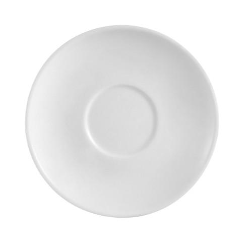 "CAC RCN-36 4.5"" Super White Porcelain Saucer - 36/Case"