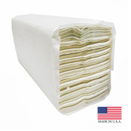 White C-Fold Paper Towel - 2400/Case