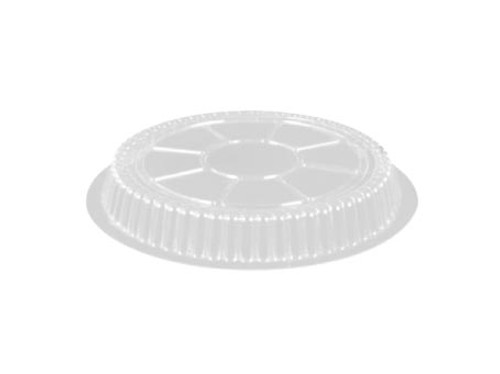 """7"""" Clear Plastic Dome Lid - 500/Case"""