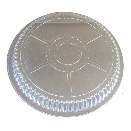 """8"""" Clear Plastic Dome Lid - 500/Case"""