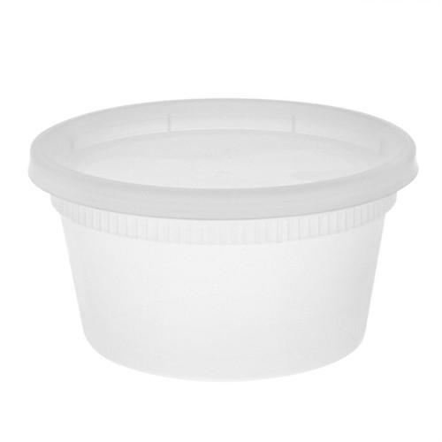 12 oz. Plastic Deli Container with Lid - 240/Case