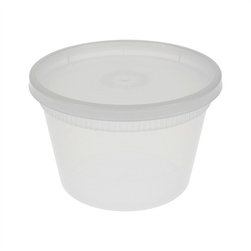 Pactiv 16 oz. Round Microwaveable Takeout Container and Lid Combo, Translucent, 240 ct.