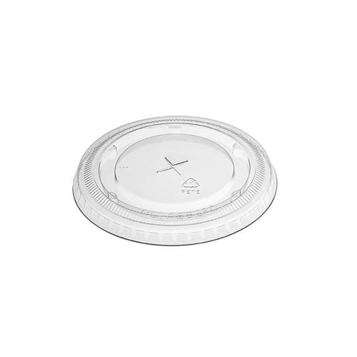 Clear 9/12/20 oz. Plastic Straw Slot Flat Lid - 1000/Case